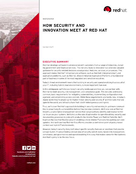 Free Resource Download Red Hat Security White Paper